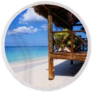 Grand Cayman Relaxing Round Beach Towel