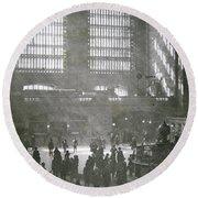 Grand Central Station, New York City, 1925 Round Beach Towel