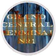 Grand Central Terminal No 1 Round Beach Towel