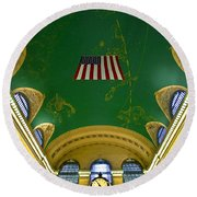 Grand Central View Round Beach Towel