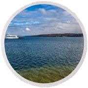 Grand Harbor On Lake Superior Round Beach Towel