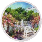 Grand Hotel Gardens Mackinac Island Michigan Round Beach Towel