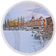 Grand Hotel Kempinski V4 Round Beach Towel