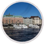 Grand Hotel Stockholm Round Beach Towel