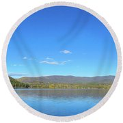 Grand Lake View From Shore Round Beach Towel