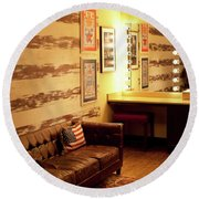 Grand Ole Opry House Backstage Dressing Room #5 In Nashville, Tennessee. Round Beach Towel