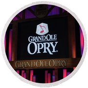 Grand Ole Opry House In Nashville, Tennessee. Round Beach Towel