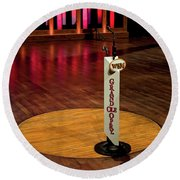 Grand Ole Opry House Stage Flooring - Nashville, Tennessee Round Beach Towel
