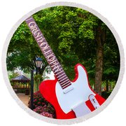Grand Ole Opry Round Beach Towel