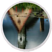 Grand-pre National Historic Site 03 Round Beach Towel