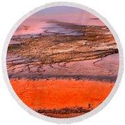 Grand Prismatic Algae Mat Panorama Round Beach Towel