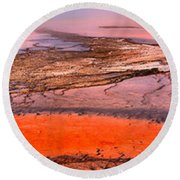 Grand Prismatic Panoramic Abstract Round Beach Towel