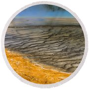 Grand Prismatic Runoff Round Beach Towel