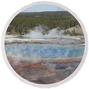 Grand Prismatic Spring, Midway Geyser Round Beach Towel