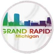 Grand Rapids Mi Round Beach Towel