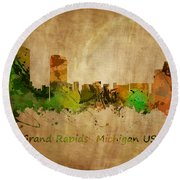 Grand Rapids  Michigan Round Beach Towel