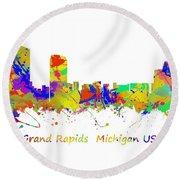 Grand Rapids  Michigan Usa Round Beach Towel