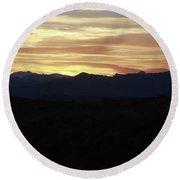 Grand Teton Landscape Sunset Round Beach Towel
