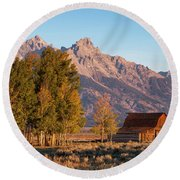 Grand Teton Mountain View Round Beach Towel