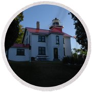 Grand Traverse Light House Round Beach Towel