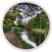 Grand Western Canal At Crown Hill Round Beach Towel