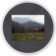 Grandfather Mountain Round Beach Towel