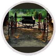 Grandfathers Buggy Round Beach Towel