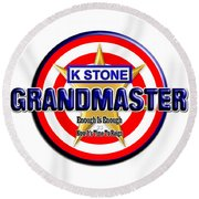 Grandmaster Version 2 Round Beach Towel