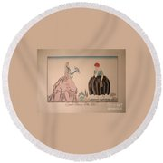 Grandmother And Granddaughter Round Beach Towel