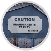 Grandparents At Play Round Beach Towel