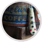 Old Fishing Lure Round Beach Towel