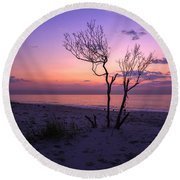 Grandview Beach Sunrise Round Beach Towel