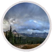 Granite Park Chalet - Glacier National Park Round Beach Towel