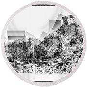 Granite Steps Eagle Lake Sequoia National Park California 2012 Round Beach Towel