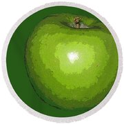 Granny Smith Round Beach Towel