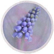 Grape Hyacinth Round Beach Towel