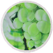Grapes Round Beach Towel