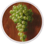 Grapes   Green Round Beach Towel