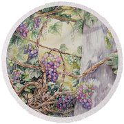 Grapevine Laurel Lakevineyard Round Beach Towel