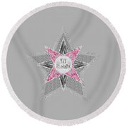 Graphic Art Silver - Yay It's Winter - Pink Round Beach Towel
