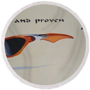 Graphic Composition Round Beach Towel