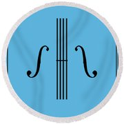 Graphic Violin Round Beach Towel