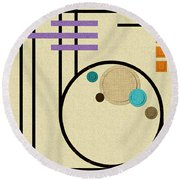 Graphics In The Sand Round Beach Towel