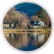 Grasmere Shoreline Round Beach Towel