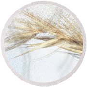 Grass Abstract Round Beach Towel