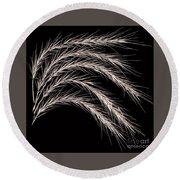 Grass Curve Coppertone Round Beach Towel