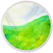 Grass In The Nature Round Beach Towel