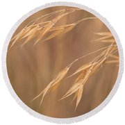 Grass In The Wind Round Beach Towel