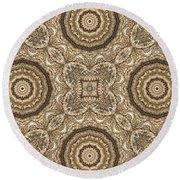 Grass Seed Crocheted Doily Round Beach Towel