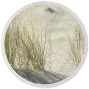 Grasses On The Beach Round Beach Towel